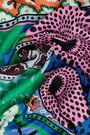 Retro green patchwork scarf