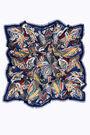 Navy blue birds shawl