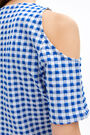 Fitted gingham top