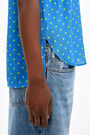 Fluid blue Dots shirt