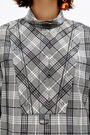 Chequered boxy blouse