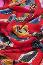 Red large butterflies shawl