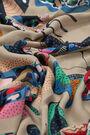 Beige large butterflies shawl