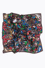 Taupe animals paisley scarf
