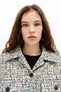 Ivory boxy jacket
