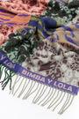 Animal print jacquard shawl