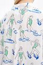 White Swim Girls oversize blouse