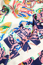 Multicolored butterflies scarf
