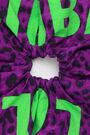 Purple Animal print hair tie