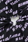 Black logo maxi hair tie