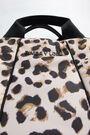 L Animal print padded shopper bag