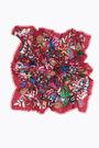 Red wild flowers shawl