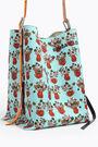 XXL blue Bouquet bucket bag