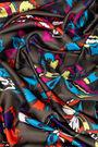 Khaki logo butterfly scarf